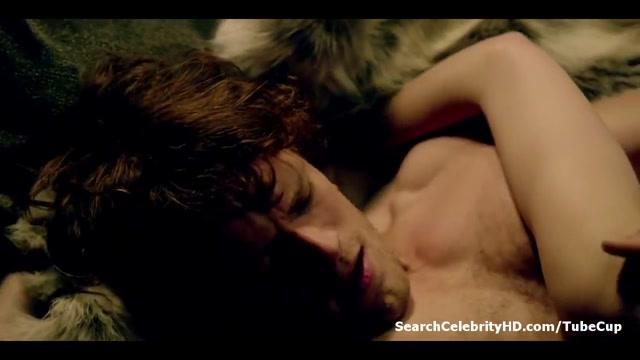 Caitriona Balfe - Outlander S01E07 girl gets fucked hard against will