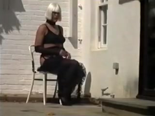 Homemade cd in stockings jerks off outdoors Lil chica the pornstar