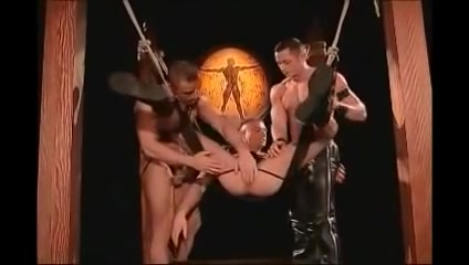Homosexual Leather Trio Blackbigmama naked sex