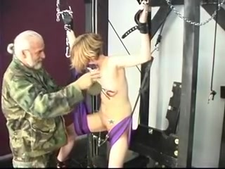 Cute tattooed youthful golden-haired has her snatch tortured during the time that that babe rides sex swing Sara upskirt video