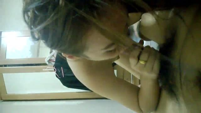 Cute Asian Girl Giving Blowjob