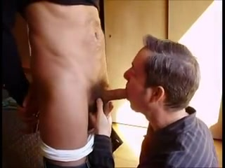 On his knees sucking cock and eating cum new step mom porn