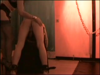Mistress gets her feet licked, and then gives a thrashing Lez facesitting pleasure
