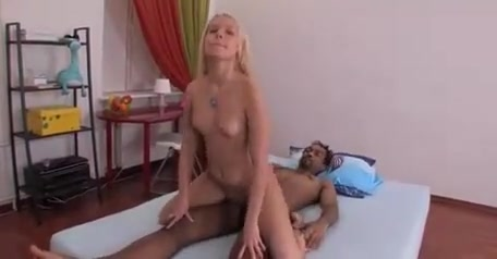 Cute blonde gets facial after interracial sex bf and gf porn