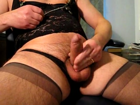 Crossdresser cums all over stockings Sperm contains eggs one steak