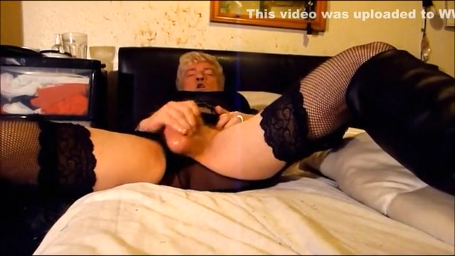 Black Stockings and Boots, Tripple Cumming Wife is making me wear panties and sucking dick
