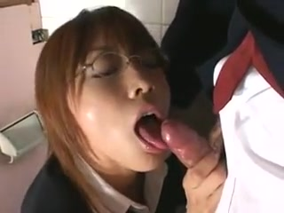 Japanese redhead oral pleasure (uncensored) Playing with oiled tits gif