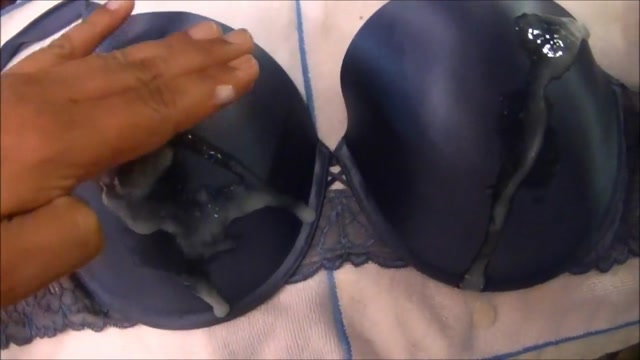 Jerking and Cumming On A Sexy 40DD Blue Bra gay silver head ring