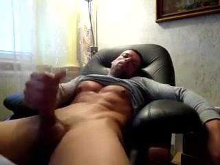 Str8 daddy stroke & cum watching porn Women fisting men vedio 8090