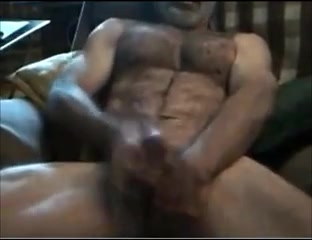 Str8 daddy uses little dildo for a muff fucked in an african village