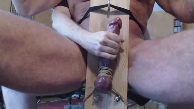 Me milk hung trucker buddy in milking chair - post cum rub shemales show whos boss