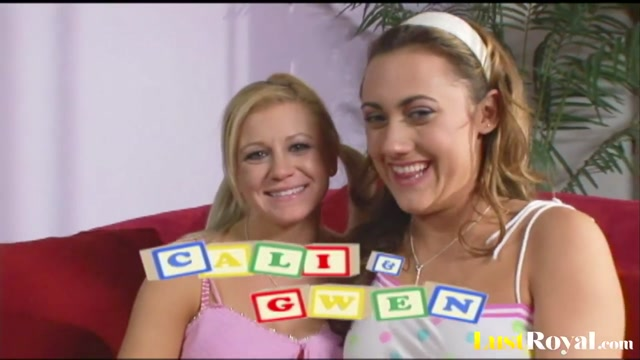 Besties Cali Cassidy and Gwen Diamond having fun Angelina valentine lesbian porn