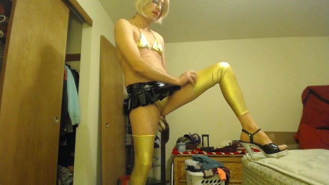Crossdressing slutboy poses fucks big dildo and cums Cherry brady huge tits