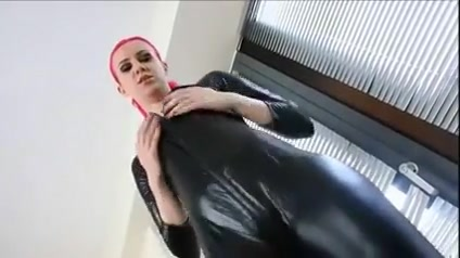 Catsuit joi Azz eating up them panties bbw
