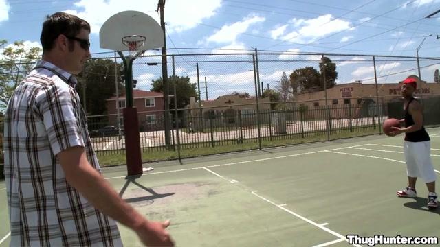 Basketball Jones - ThugHunter Threesome hot movies