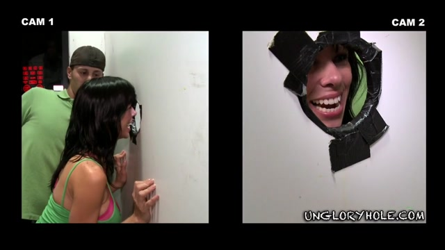 Tyler Finds Out The Hole Way - UnGloryHole naked cartoon man chasing a woman