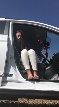 Chinese girl public blow and fuck in car Mature with giant pussy piercing and cucumbers