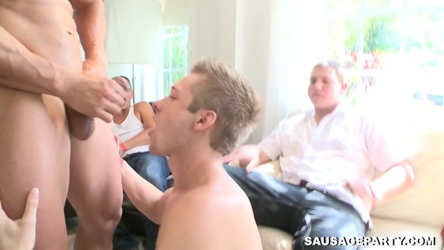 Orgy time - BigDaddy hubby forced to watch