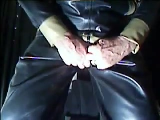Black rubber estim. Orgasm without ejeculation