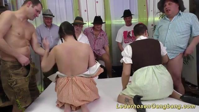 german lederhosen fuck orgy Blonde sasha rose anal