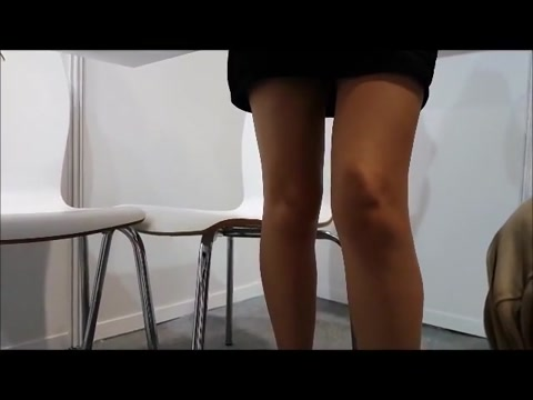 Sexy under table cuckold hotwife humiliation femdom