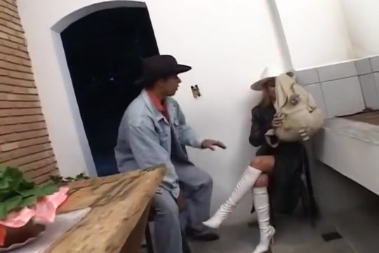 Cowgirl Angel Screams During Doggy Anal