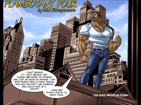 Flamboyant Four Gay Superhero Animated Comics Escort in Haifa