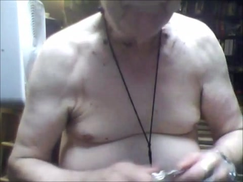Chastity boi does nipple and Breath play types of pussy lips