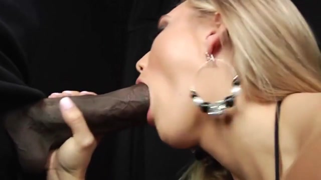 Blonde sucks monster black cock before being fucked Fucky Lucky