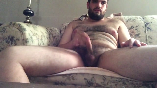 Sweatyy couch wank bear muscled men fucks son