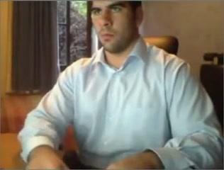 Macho pajeando su verga dura en la webcam Masseuse nijmegen
