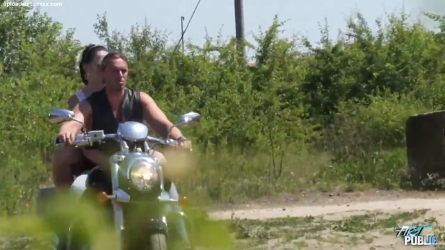 Michaela Fucks Over A Motorcycle Outside Blind date in Bitola