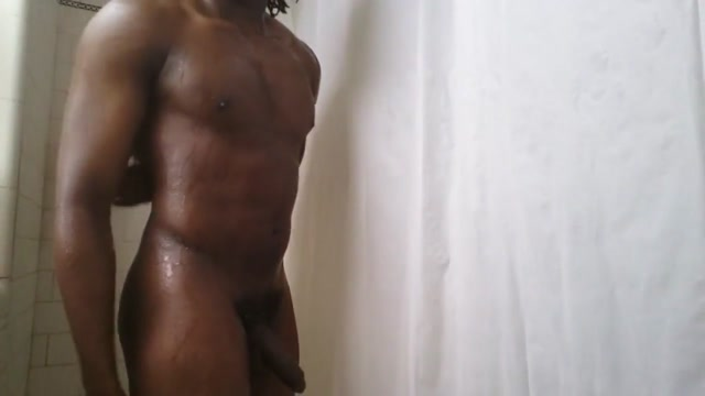 Watch me shower and play with my cock blonde tip licking blowjobs and cum