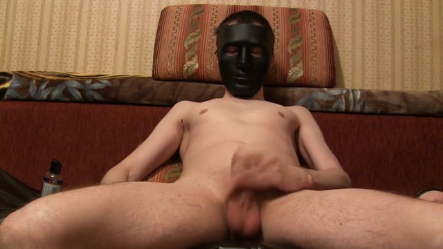 Black Mask Fuck fleshlight Pussy Homemade solo Cute milf ass in jean shorts