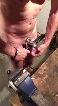 Whipping balls 200 times with leather belt Bestbdsm