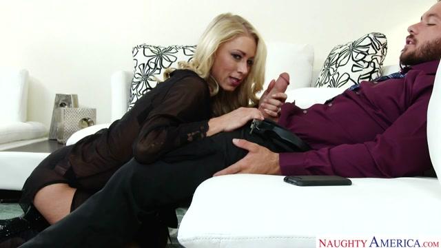 Katie Morgan & Chad White - MyWifeIsMyPornstar Sexy nurse in red latex sucking fat penis