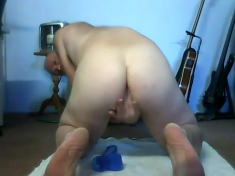 Cumming on my new toy Mature Granny Ass