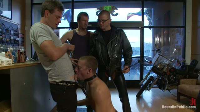 Young stud is bound for the first time at Mr. S Leather sex hardcore fatty women