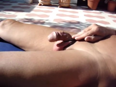 Wanking by the pool on national holiday Teenager tastes tiny les