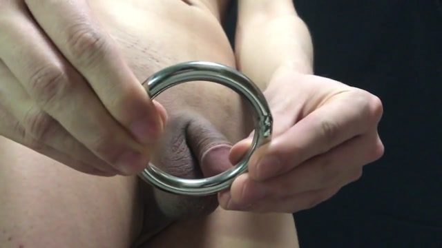 Fitting four cockrings Romantic shower fuck
