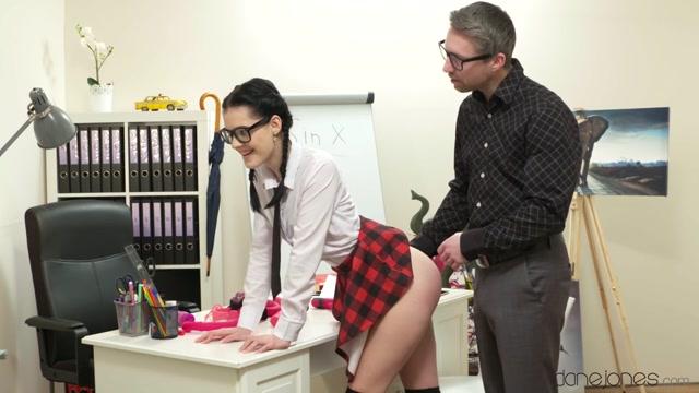 Anie Darling & Lutro Steel in Spanking for naughty schoolgirl - DaneJones