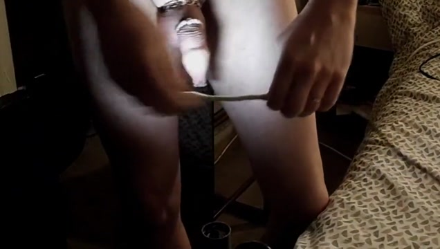 Inflated foreskin illuminated pierced needles pins balls Huge tits get fucked hard