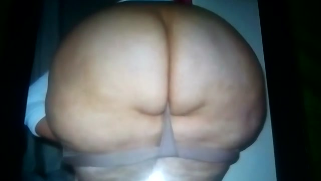 Hot Cum Tribute for this Sexy Big Fat BootyFull BBW Booty Big naked black tit