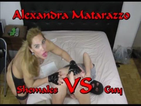 Shemale VS Guy ( Alexandra Matarazzo ) Nice porn stars xxx movie online