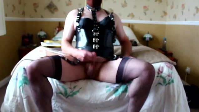 Wanking in my fully fashioned nylons. hot and horny with big tits