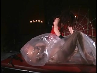 Fellow receives clamped and then plastic wrapped