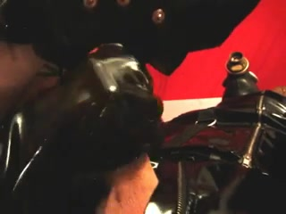 engulfing in rubber and mask Family incest gifs