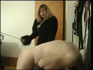 Female-Dominant Cristian drubbing her serf stud Hot blonde rides dildo