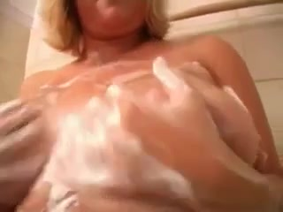 Mamma with biggest natural meatballs takes a shower Fe sex veduo model germany