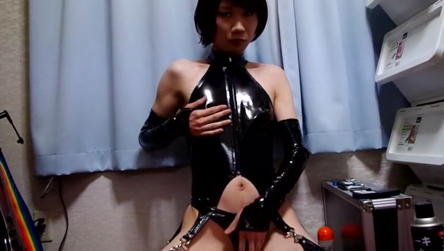 Crossdresser in pvc playsuit free porn slim adult women